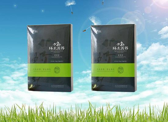 健康茶饮就选苦荞茶,健胃消食效果好!