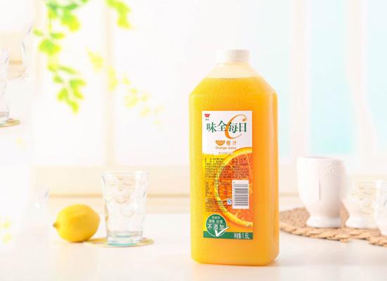 味全每日C橙汁,唤醒你一整天的清爽感觉