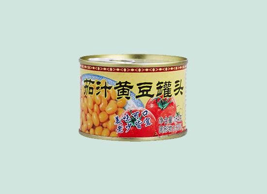 喜家乐茄汁黄豆罐头,茄汁的味道让黄豆更有风味