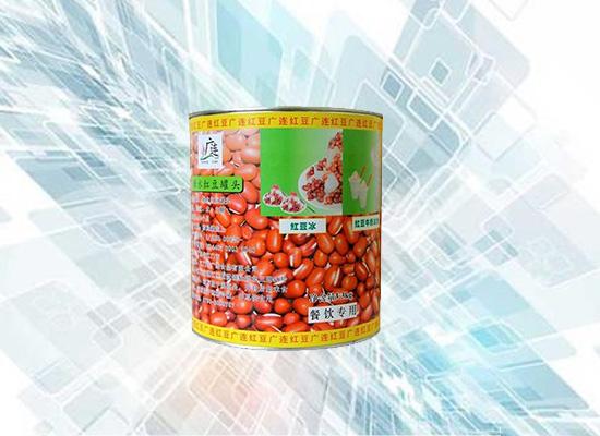 颗粒分明的红豆罐头,味道香甜食用方便!