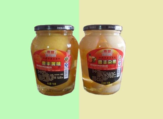 惠丰水果罐头选自新鲜水果制作而成,营养丰富口感爽滑!