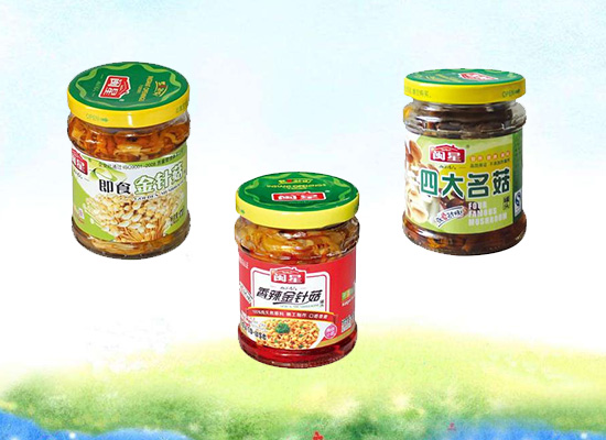 闽星菌菇酱菜口味众多,下饭菜的好选择