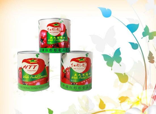 红彤彤去皮番茄罐头口感更佳,受到业界一致好评