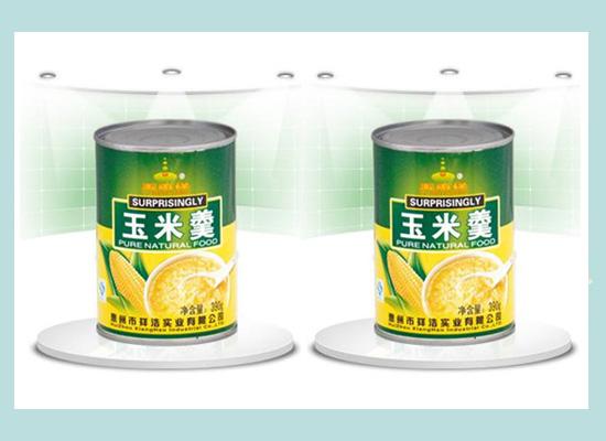 香甜可口玉米羹,罐装食品更方便!