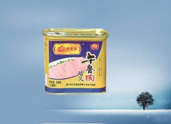 润丰午餐肉罐头用品质赢得消费者喜爱!