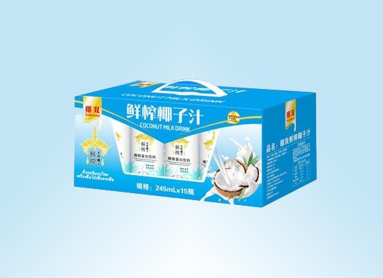 广东中启食品公司打造天然饮品,主推清香椰子汁饮品