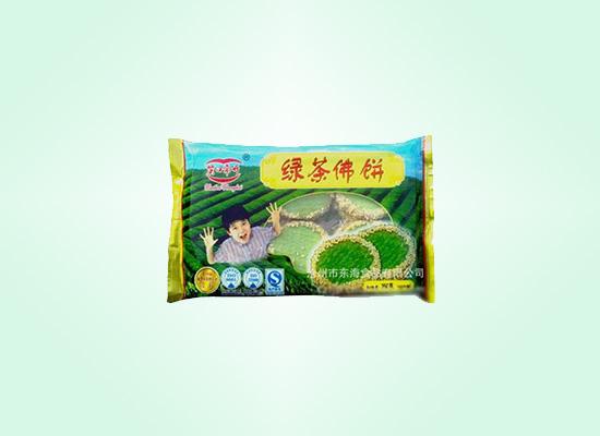 东海绿茶佛饼美味的台式小吃,浓浓绿茶味口口芝麻香!