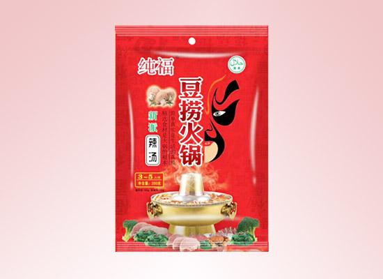 纯福新派火锅底料香辣爽口,让火锅食材在香辣中翻腾起来