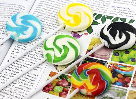 蕴之宝彩色棒棒糖口感和颜值成正比,色彩斑斓惹人爱!