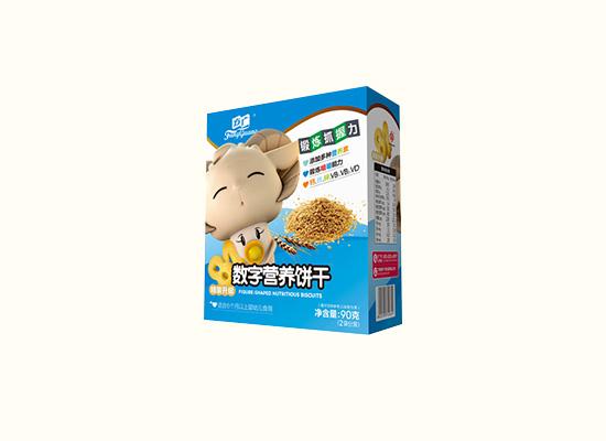 方广数字营养饼干添加多种营养素,锻炼婴幼儿抓握力!