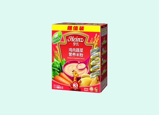 亨氏鸡肉蔬菜米粉营养丰富,绿色食物健康又安全!