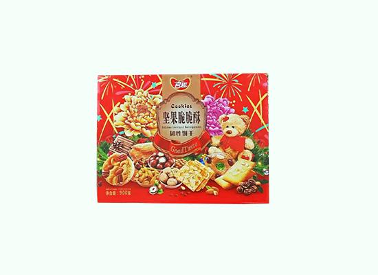 喜趣坚果脆脆酥饼干礼盒上线,韧性饼干味道更可口!