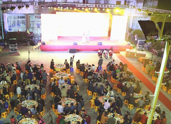 一场别开生面的年会活动在宇峰公司举行