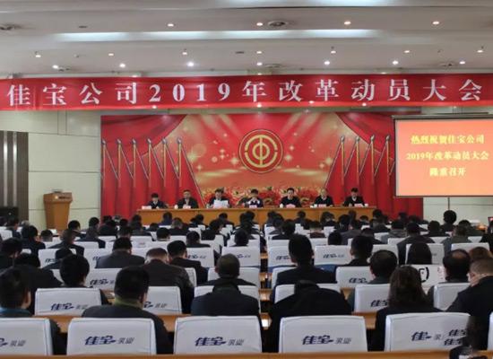 佳宝公司2019年改革动员大会隆重召开
