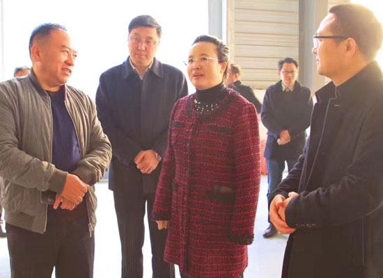 随州市市长郭永红率市政府领导视察湖北中兴食品有限公司