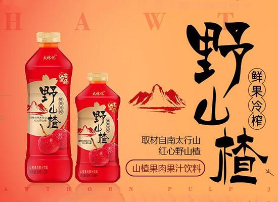 河南涌泉野山楂果汁饮料,鲜果冷榨,风靡饮品市场