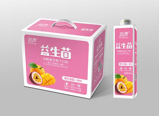 谷源益生菌发酵复合果汁饮料,新品来袭,众多口味任您畅享,风靡市场