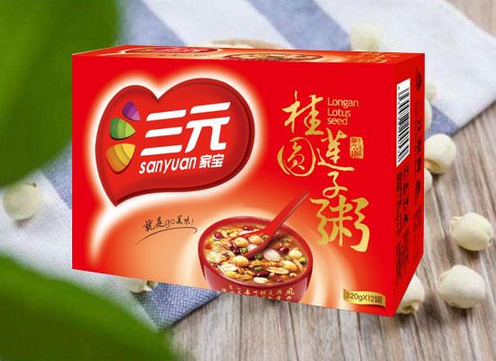 三元家宝桂圆莲子粥,精选高品质食材,口感香甜!