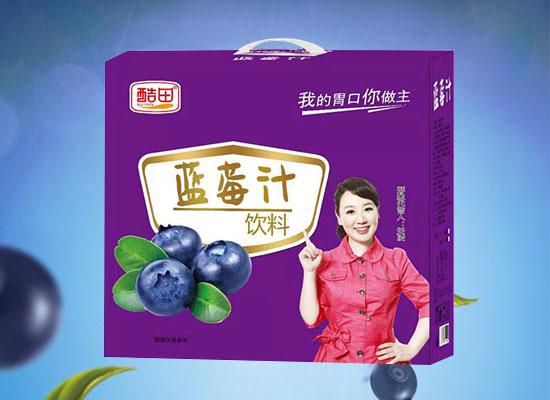 酷田蓝莓汁饮料礼盒,浓郁蓝莓芳香,送人自饮两相宜!