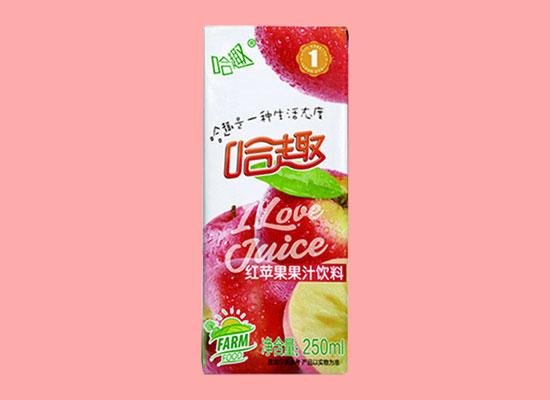 哈趣果汁饮料,酸甜可口,享受与众不同的新鲜感