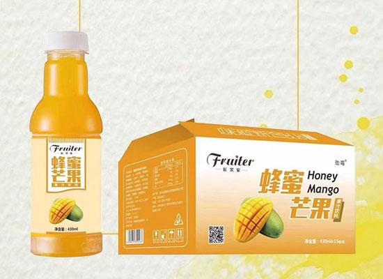 蜂蜜芒果果汁饮料,三种水果,清爽好滋味