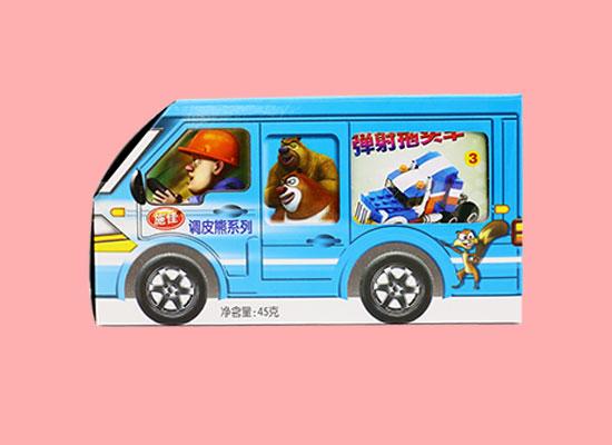 施佳调皮熊系列糖果玩具,动画形象逼真,带您一起嗨起来