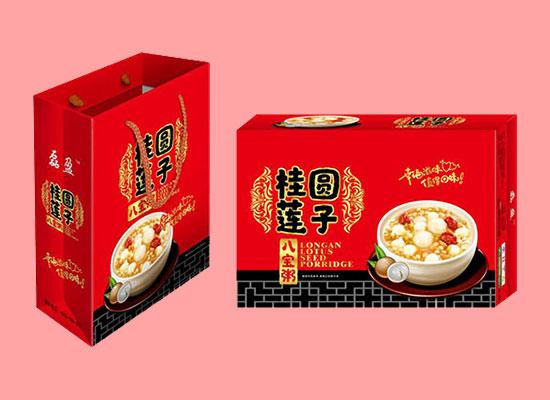 雅芙农谷桂圆莲子八宝粥,红色礼盒彰显大气,经销商们的福利
