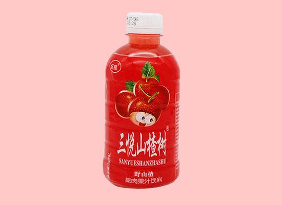 三悦山楂树野山楂汁饮料,酸甜美味爽口,值得经销商代理