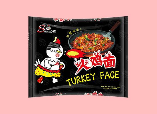 和统火鸡面,袋装方便快捷,辣爽美味,深受消费者青睐
