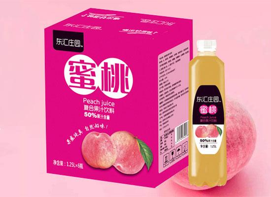 东汇庄园复合果汁饮料1.25L,大瓶装更尽兴