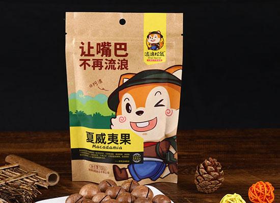 流浪松鼠坚果系列新品上市,营养美味,畅销市场