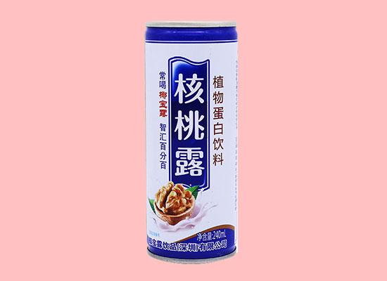 椰宝露核桃露饮品,营养价值高,满足消费者味蕾
