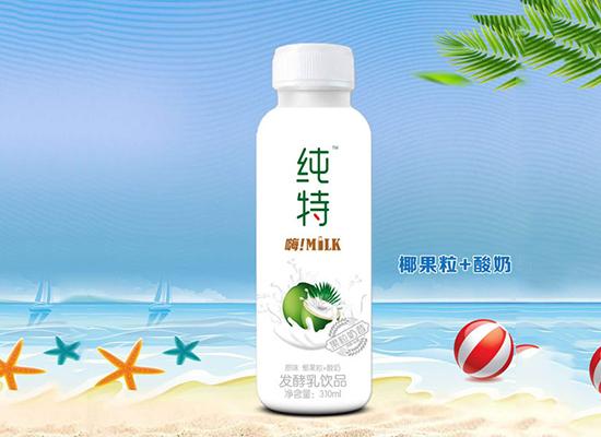 纯特发酵酸奶,畅享美味饮品,深受消费者青睐