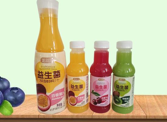 龙益元系列新品上市,乳酸菌和益生菌发酵果汁优于同类竞品!