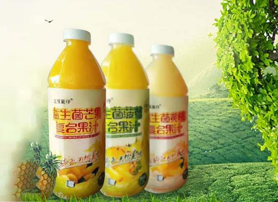三稞菓仔益生菌復合果汁1.25L,大容量,飲用更盡興
