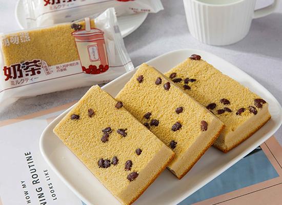 萌萌熊奶茶味蛋糕,可以嚼着吃的奶茶