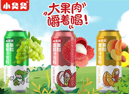 小臭臭果汁饮品,大果粒嚼着喝的果汁