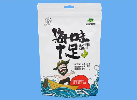 海味十足的小零食,就选乐吉福香辣味海带