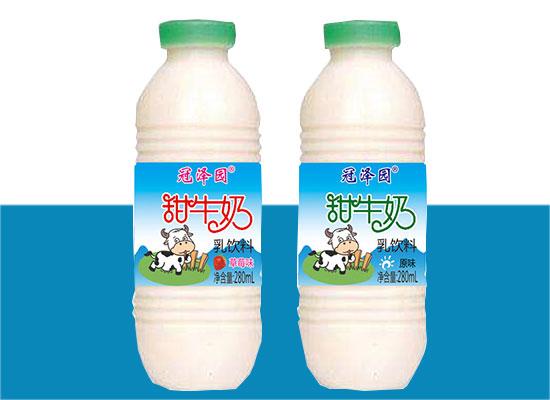 冠泽园甜牛奶,健康好喝兼备的乳饮料