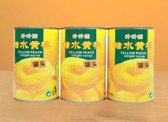 升升园黄桃罐头,甄选新鲜黄桃,口感更香甜