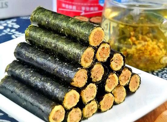 糯状元肉松海苔卷,健康好吃的优质零食