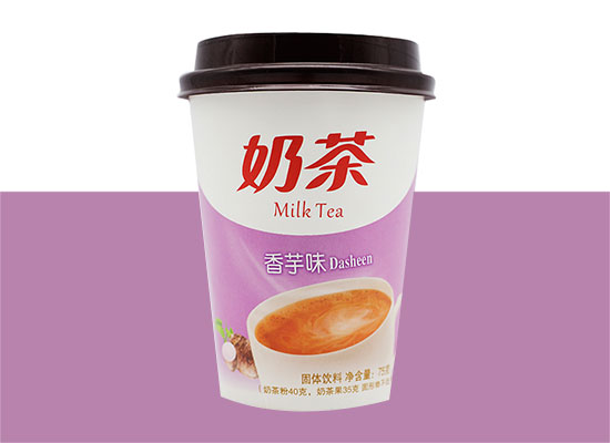 优旺滋香芋味奶茶,浓浓的很暖心