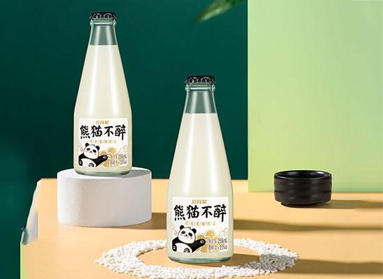 豆开星熊猫不醉糯米发酵饮品,营养优质的健康饮品