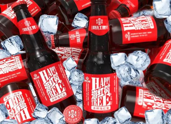 海红树冰榨海红蜜饮料,一款含果汁的碳酸饮料!