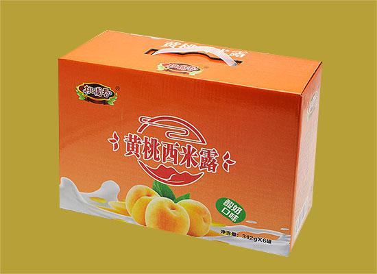 桃园春酸奶味黄桃西米露,黄桃竟然还能这样吃