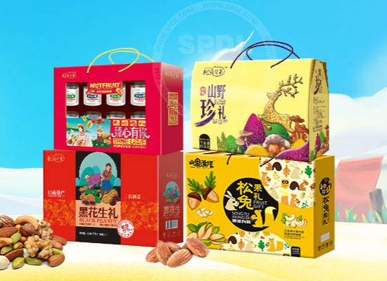 松兔兄弟坚果礼盒,时尚又大气,春节走亲访友的佳选