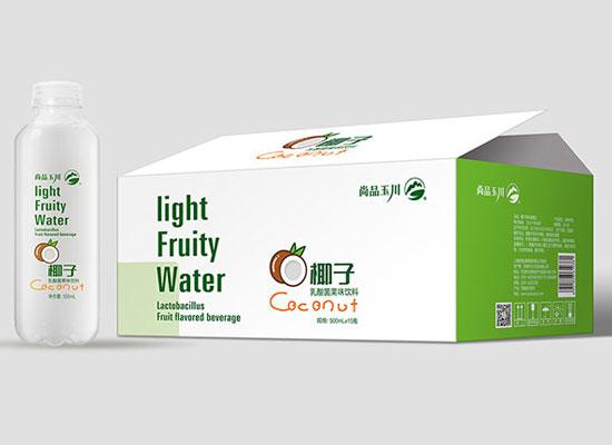 尚品玉川椰子乳酸菌果味饮料,富含真正椰子的饮品