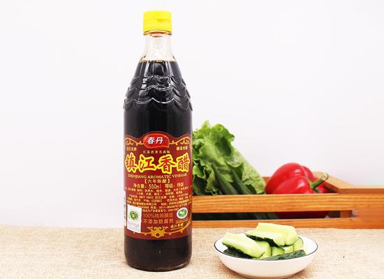 春丹镇江香醋,酸味柔和,醋香浓郁,色浓而味鲜