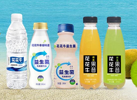 花花牛饮品旗下产品众多,苏打水、果汁、乳酸菌等你来选!