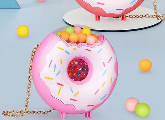 七彩糖珠甜甜圈包包糖果,释放孩子的天性